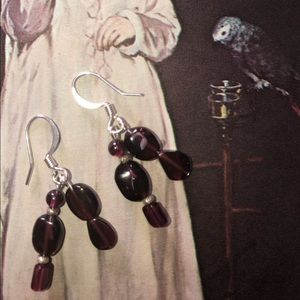 Casey Keith Design Jewelry - Garnet Dangle Earrings